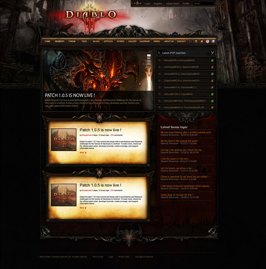 Diablo 3 Ultimate webspell template