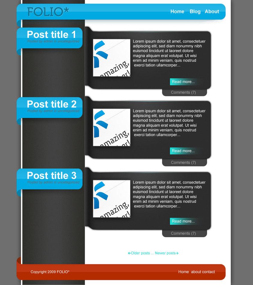 FOLIO : free PSD blog template