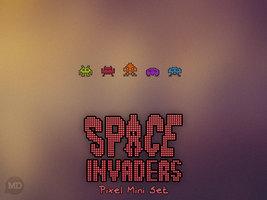 Space Invaders Pixel Mini Set