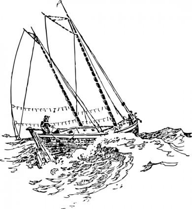 рыболовный кораблик рисунок