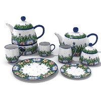 Ceramic tableware, decorations