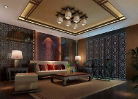 Chinese-style living room scene model