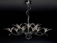 European living room crystal chandelier 3D model