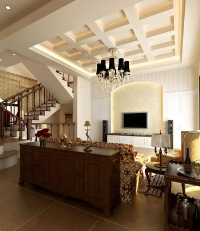 European-style duplex solid wood model of a sense of casual