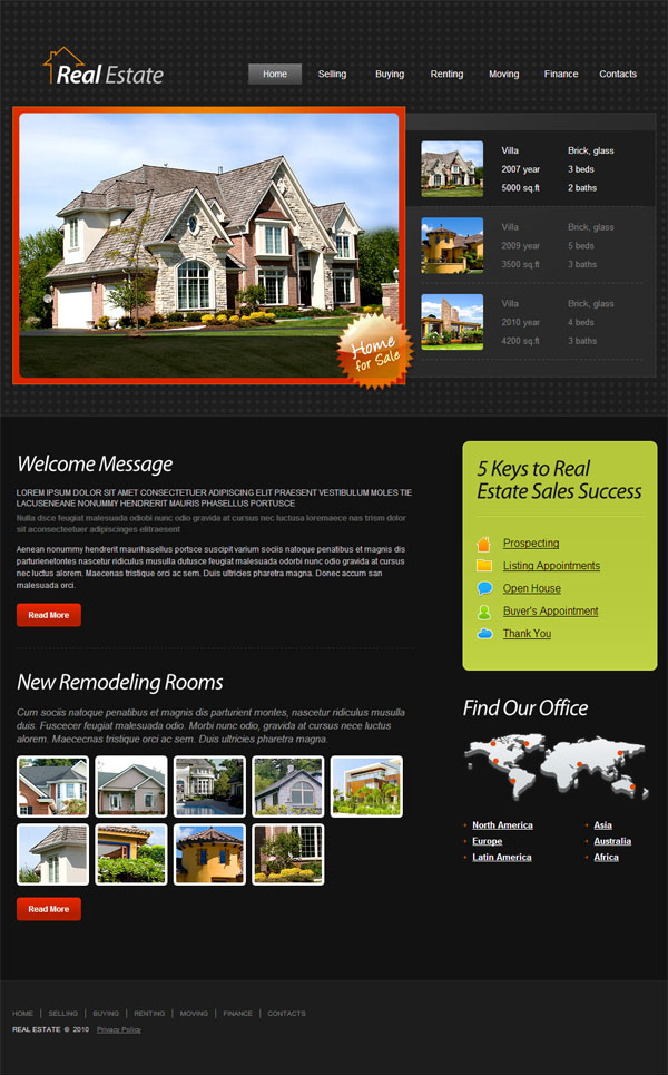 House sell website templates