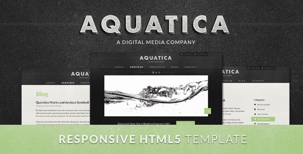 HTML5 creative enterprise templates