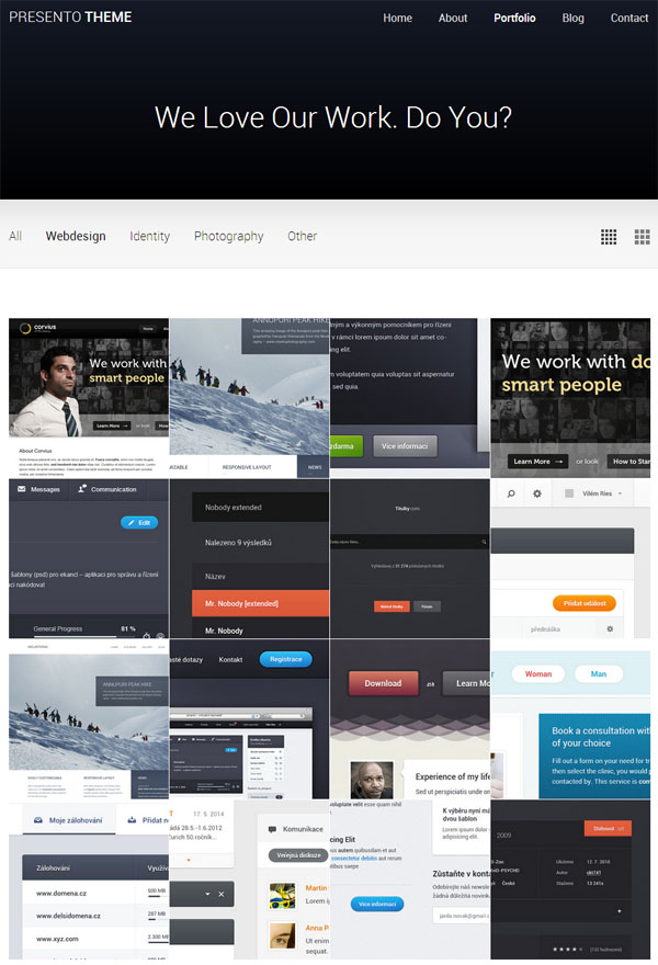 Merchants display CSS website templates