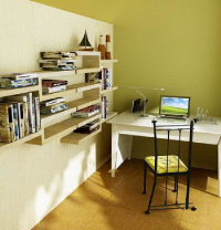 Modern minimalist study