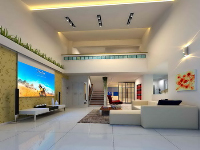 No color line penthouse living room model