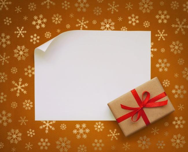 Orange shading, snowflake gifts