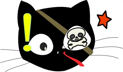 pirate cat clip art vector for free download free vector pirate cat clip art vector for free download free vector