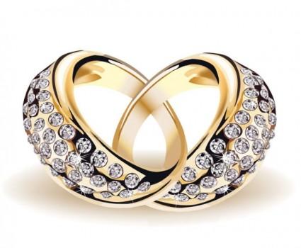 Precious Wedding Ring 01 Vector Free Download