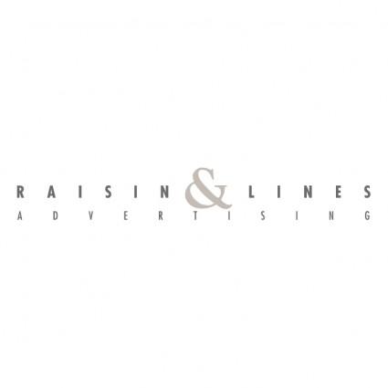 raisin lines advertising logo