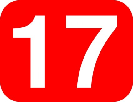 The Red Rounded Rectangle With Number 17 clip art will download as a ...