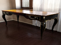 The European wooden table 3D model