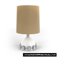 The exquisite minimalist carved table lamp 3D model