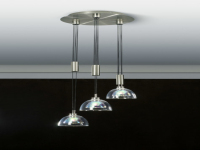 The simple transparent crystal lampshade combination chandel