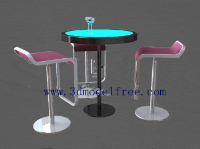 The tall bar class tables and chairs combination model