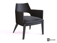 The ultra-modern black armchair 3D model