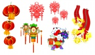 Chinese new year lanterns set off firecrackers pictures