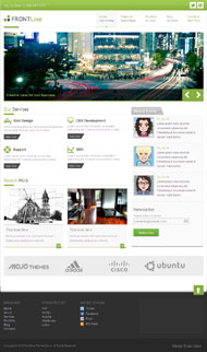 Corporate Web site of CSS3 page template