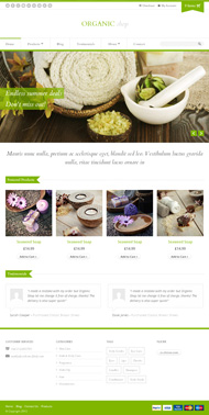Green and organic stores HTML templates