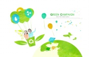 Green creative PSD source file footage