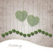 Green heart-shaped plant background pictures