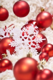 Red decorative snowflake pictures