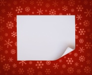 Red shading, snowflake paper pictures