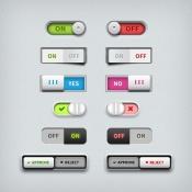 Toggle switch UI design