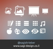 Web page icons design source files