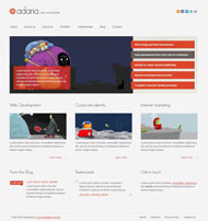 Website development CSS page templates