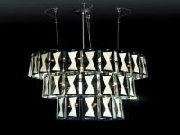 Ultra-modern 3D models of large crystal chandelier