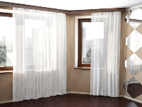 Windows with white curtains 3D model
